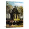 iCanvasArt 'Congregation Leaving the Reformed Church in Nuenen' by Vincent van Gogh Painting Print on Canvas