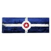 iCanvasArt Indianapolis Flag, Indianapolis Vintage Panoramic Graphic Art on Canvas