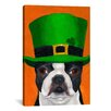 iCanvas Hat 24 Irish by Brian Rubenacker Graphic Art on Canvas