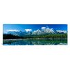 <strong>iCanvasArt</strong> Panoramic Herbert Lake, Banff National Park, Canada Photographic Print on Canvas