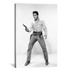 <strong>iCanvasArt</strong> Elvis Presley with a Gun, Western Style, 1960's Photographic Print on Canvas