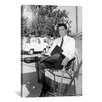 iCanvasArt Elvis Presley Sitted in Business Attire Photographic Print on Canvas