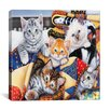 "iCanvasArt ""Cozy Kittens"" Canvas Wall Art by Jenny Newland"