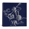 iCanvasArt Constellation of Hercules III Canvas Wall Art