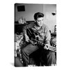 <strong>iCanvasArt</strong> Elvis Presley, Army Year, Playing Guitar Photographic Print on Canvas