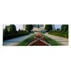 iCanvas Panoramic Bahai Temple Gardens at Bahai House of Worship, Chicago, Illinois Photographic Print on Canvas