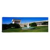 <strong>iCanvasArt</strong> Panoramic Fountain in Front of Lyndon Johnson Presidential Library Austin, Texas Photographic Print on Canvas