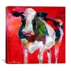 "<strong>iCanvasArt</strong> ""Cow"" Canvas Wall Art by Richard Wallich"