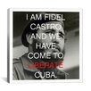 iCanvas Fidel Castro Quote Canvas Wall Art