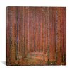 <strong>iCanvasArt</strong> 'Fir Forest I' by Gustav Klimt Painting Print on Canvas