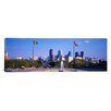 iCanvasArt Panoramic Fountain at Art Museum with City Skyline Philadelphia, Pennsylvania Photographic Print on Canvas