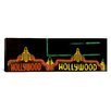 iCanvas Panoramic Hollywood Neon Sign Los Angeles, California Photographic Print on Canvas