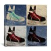 iCanvas Canada Hockey Ice Skates #6 Graphic Art on Canvas