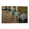 iCanvas 'Dancers' Rail by Edgar Degas Painting Print on Canvas
