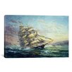 "iCanvas Decorative Art ""Clipper Ship Surprise"" by Nicky Boehme Painting Print on Canvas"