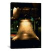 iCanvasArt Panoramic Close-up of a Bell, Liberty Bell, Philadelphia, Pennsylvania Photographic Print on Canvas