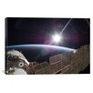 iCanvas Astronomy and Space Station Photographic Print on Canvas