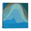 iCanvasArt Modern Blue Planet Graphic Art on Canvas