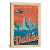 iCanvasArt 'Dallas, Texas' by Anderson Design Group Vintage Advertisement on Canvas