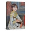 <strong>iCanvasArt</strong> 'Julie Manet with Cat 1887' by Pierre-Auguste Renoir Painting Print on Canvas