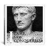 iCanvas Julius Caesar Quote Canvas Wall Art
