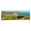 iCanvasArt Panoramic Marin Headlands and Rodeo Cove San Francisco, California Photographic Print on Canvas