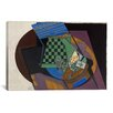 iCanvas 'Damier et Cartes a Jouer (Checkerboard and Playing Cards)' by Juan Gris Painting Print on Canvas