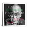 iCanvasArt Dalai Lama Qote Canvas Wall Art