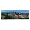 iCanvasArt Panoramic Cleveland Ohio Aerial Photographic Print on Canvas