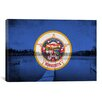 iCanvas Minnesota Flag, Grunge Peterson Lake Calhoun Graphic Art on Canvas