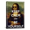 iCanvas Keep Calm and Be Yourself Textual Art on Canvas