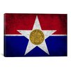 iCanvas Dallas, Texas Flag - Grunge Graphic Art on Canvas