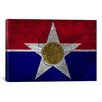iCanvasArt Dallas, Texas Flag - Grunge Vintage Map Graphic Art on Canvas