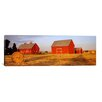 iCanvas Panoramic Red Barns in a Farm, Palouse, Whitman County, Washington State Photographic Print on Canvas
