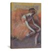 iCanvas 'Danseuse Rajustant Sa Sandale 1896' by Edgar Degas Painting Print on Canvas