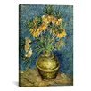 <strong>iCanvasArt</strong> 'Crown Imperial Fritillaries in a Copper Vase' by Vincent van Gogh Painting Print on Canvas