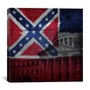 iCanvas Mississippi Flag, Capitol Building with Wood Planks Graphic Art on Canvas