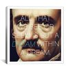iCanvas Edgar Allan Poe Quote Canvas Wall Art