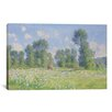 iCanvas Effet De Printemps a Giverny 1890 by Claude Monet Painting Print on Canvas