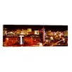 iCanvasArt Panoramic 'City Lit up at Night, Las Vegas, Nevada' Photographic Print on Canvas