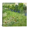 "<strong>iCanvasArt</strong> ""Daubigny's Garden"" Canvas Wall Art by Vincent van Gogh"