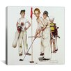 iCanvasArt 'Missed (Four Sporting Boys: Golf)' by Norman Rockwell Painting Print on Canvas