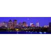 iCanvas Panoramic Dusk Charles River Boston, Massachusetts Photographic Print on Canvas
