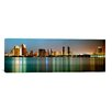 <strong>iCanvasArt</strong> Panoramic City Skyline at Night, San Diego, California Photographic Print on Canvas