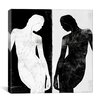 iCanvas Modern Contrasting Silhouette Figure Graphic Art on Canvas