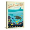 iCanvas Great Barrier Reef, Australia by Anderson Design Group Vintage Advertisement on Canvas