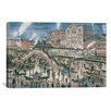iCanvas 'Greely Square, N Y C, Ca 1896' by Stanton Manolakas Painting Print on Canvas