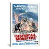 <strong>iCanvasArt</strong> Destroy All Monsters Movie Vintage Advertisement on Canvas