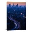 iCanvasArt Panoramic 'Highway 101 at Dawn, Hollywood Freeway, Los Angeles, California' Photographic Print on Canvas