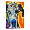 iCanvas Great Dane by Dean Russo Graphic Art on Canvas